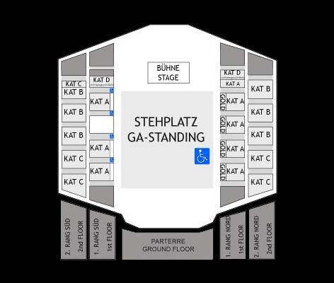 Plan des places pour les shows de l'Eurovision 2015 au Wiener Stadthalle
