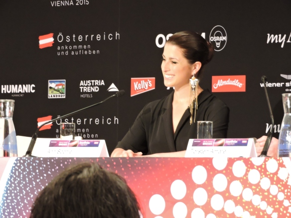 Anne-Sophie - press conference ESC - Vienna 2015