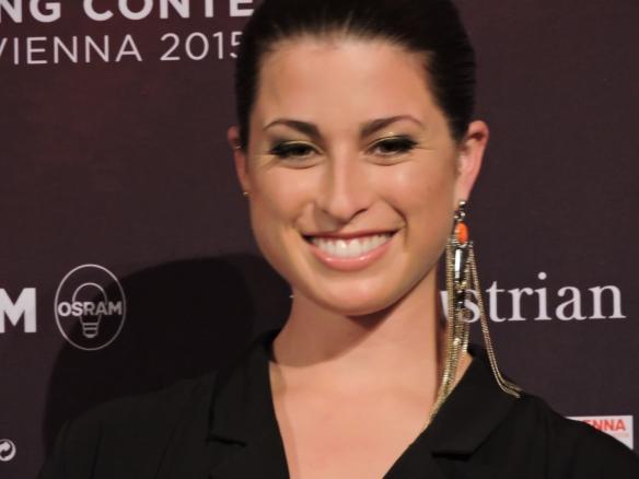 Anne-Sophie - conférence de presse Eurovision 2015 - Vienna