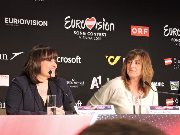 Lisa Angell et Nathalie André - ESC 2015