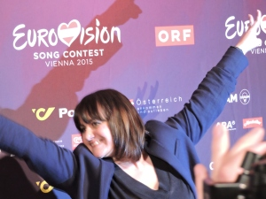 Lisa Angell - press conference ESC 2015 - Vienna
