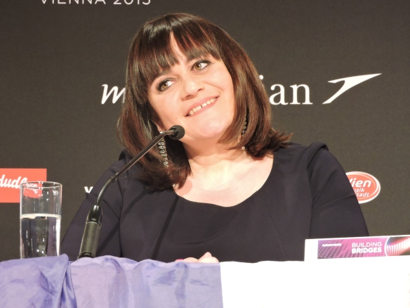 Lisa Angell - Conférence de presse  Vienna 2015