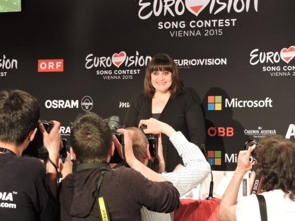 Lisa Angell - conérence de presse ESC 2015
