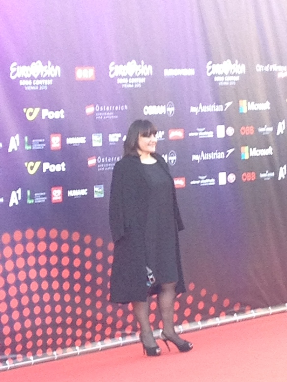 Lisa Angell red carpet ESC 2015