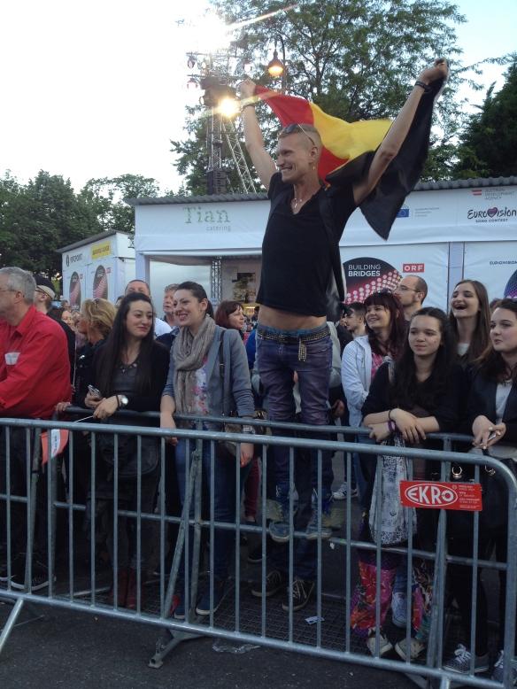 Un fan allemand de Loïc Nottet