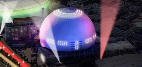 Le Globe Arena de Stockholm - vu de l'extérieur